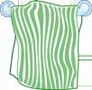 handtuch als Unterlage für ein Fußmassagegerät